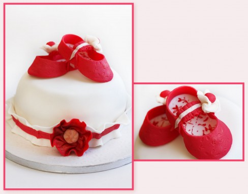 """����� """"�������"""" (Baby Shoes Cake)"""