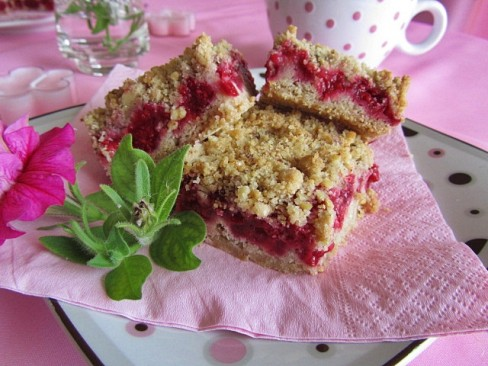 �������� �������� �� ������� ����� (Raspberries Crumble Bars)